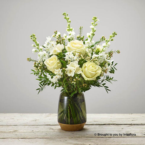 Fragrant Whites Vase Plus