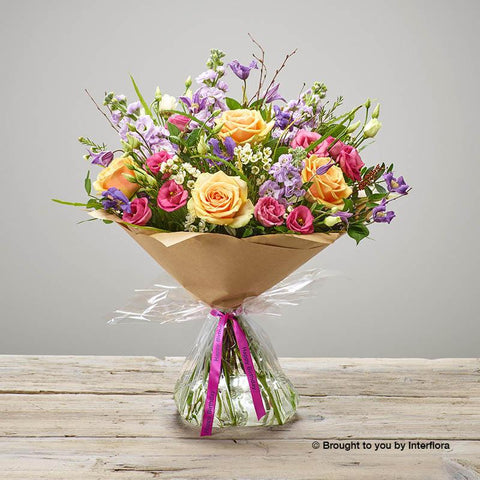 Large Happy Birthday Tutti Frutti Hand-tied
