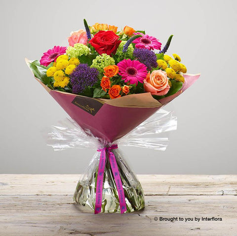 Happy Birthday Kaleidoscope Burst Hand-tied