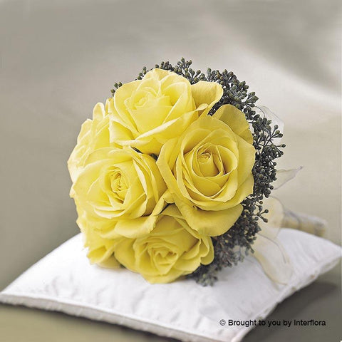 Lemon Rose Deluxe Bridal Posy