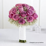 Lavender Rose & Gypsophila Deluxe Bridal Bouquet
