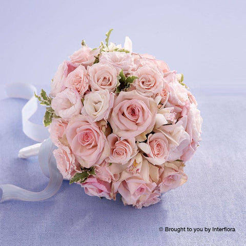 Soft Pink Rose & Orchid Deluxe Bridal Bouquet