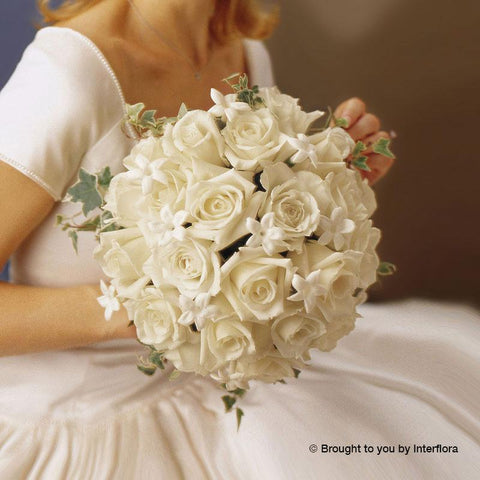 Graceful Rose & Stephanotis Scented Deluxe Bridal Bouquet