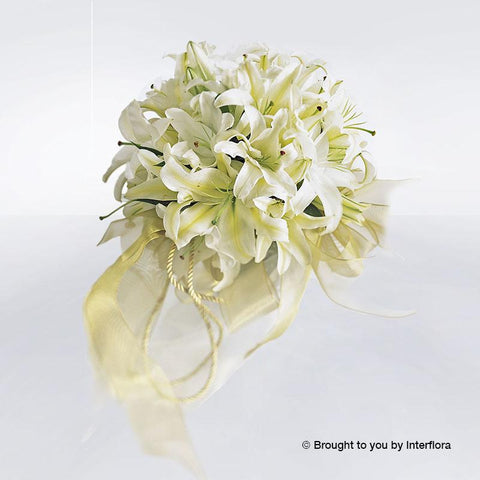 Exotic White Lily Deluxe Bridal Bouquet