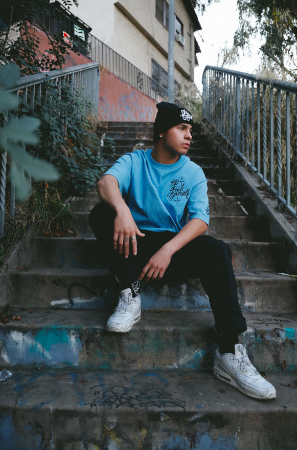 Get Lost (Carolina Blue) Embroidery tee