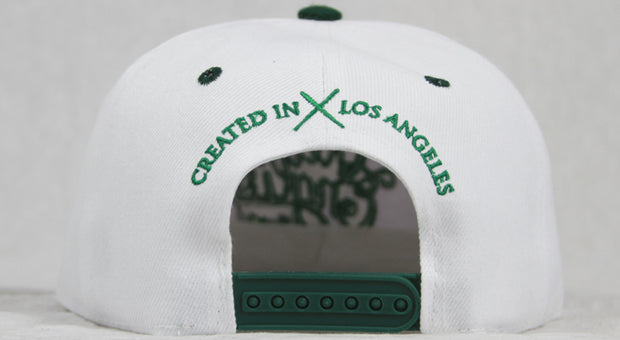 Members Only OE White & Green Snapback