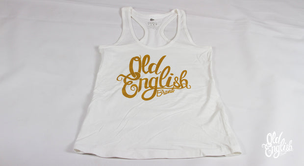 OE Racerback Tank in White