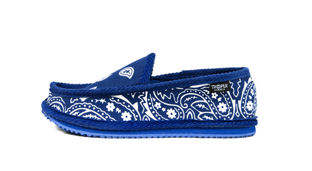 You Gots To Chill Royal Blue Bandana Slippers