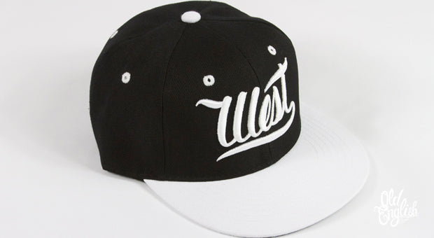 West OE Black & White Snapback