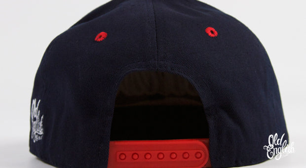 West OE Navy Blue & Red Snapback