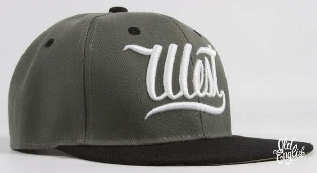 West OE Grey & Black Snapback