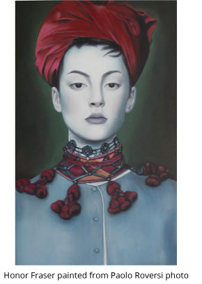 Honor Fraser painted from Paolo Roversi photo