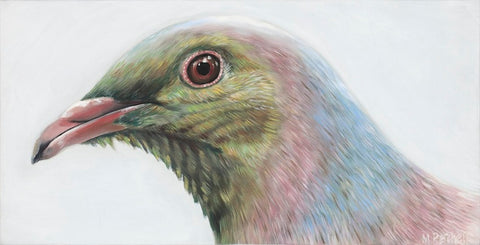 wood pigeon art print