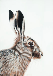 rabbit original painting , acrylic on canvas rabbit portrait