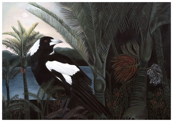 """Maverick"" Magpie in Night Bush"