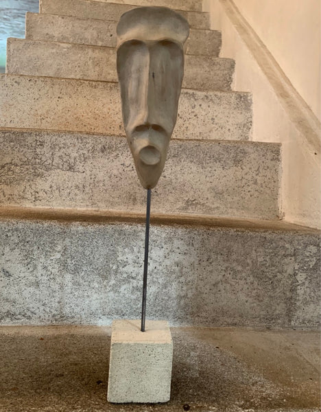 Narrow Man Sculpture Face