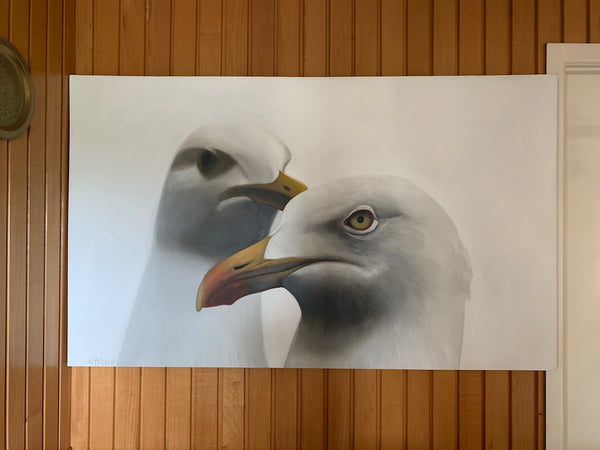 "Seagull Art Print ""Barret and Lorenzo"""
