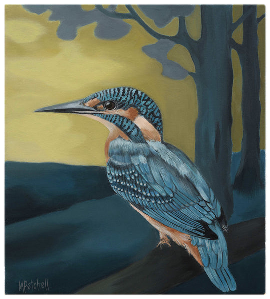 Roy Kingfisher Art Print