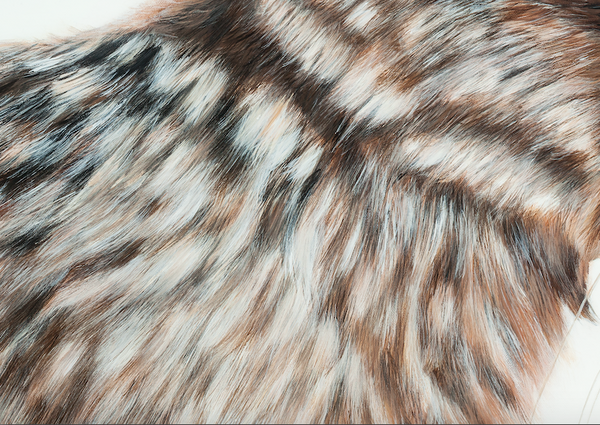 rabbit art print fur detail