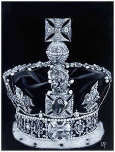 The Imperial State Crown  Original Painting