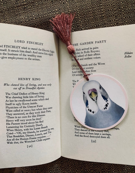 Sylvia Budgie Bookmark