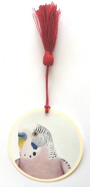 pink budgie bookmark