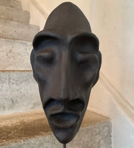Oval Man Sculpture Mask