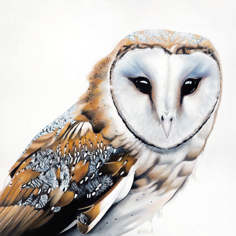 owl art print, bird portrait,