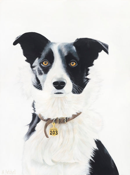 farm dog, dog art print , margaret petchell artist