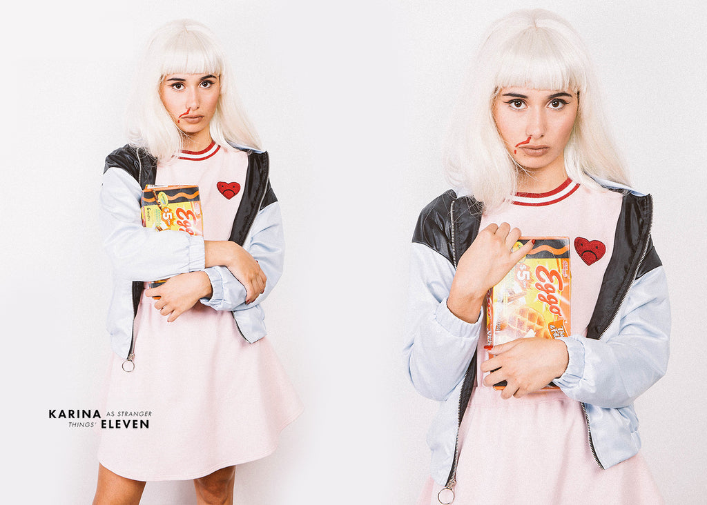 Eleven From Stranger Things We have a serious obsession for the new Netflix series Stranger Things so we couldnu0027t help but recreate one of our favorite ...  sc 1 st  Valfre & DIY Halloween Costumes | Valfré