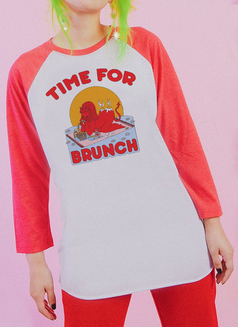 Time For Brunch Baseball Tee