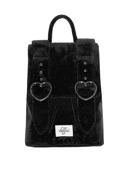 corduroy bag black