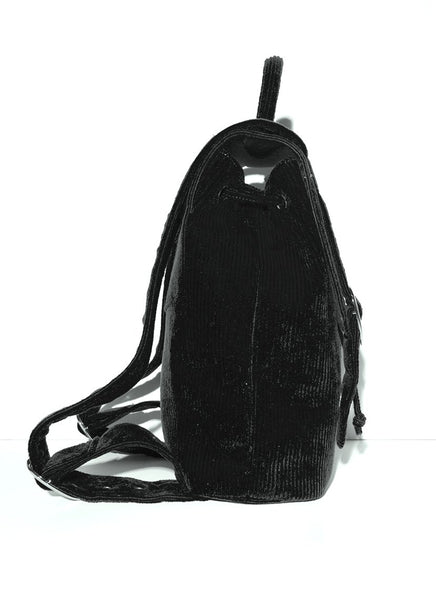 trendy black backpack