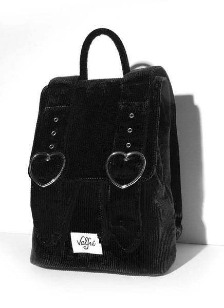 corduroy backpack black
