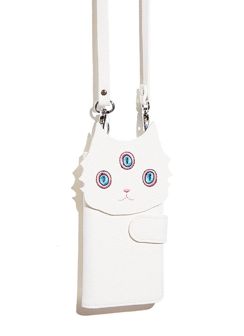 white cat phone case