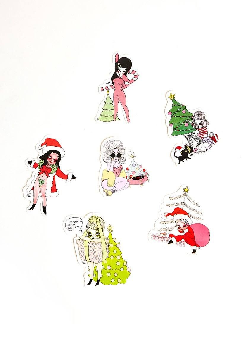Christmas Sticker Packet - Artsy Holiday Stickers