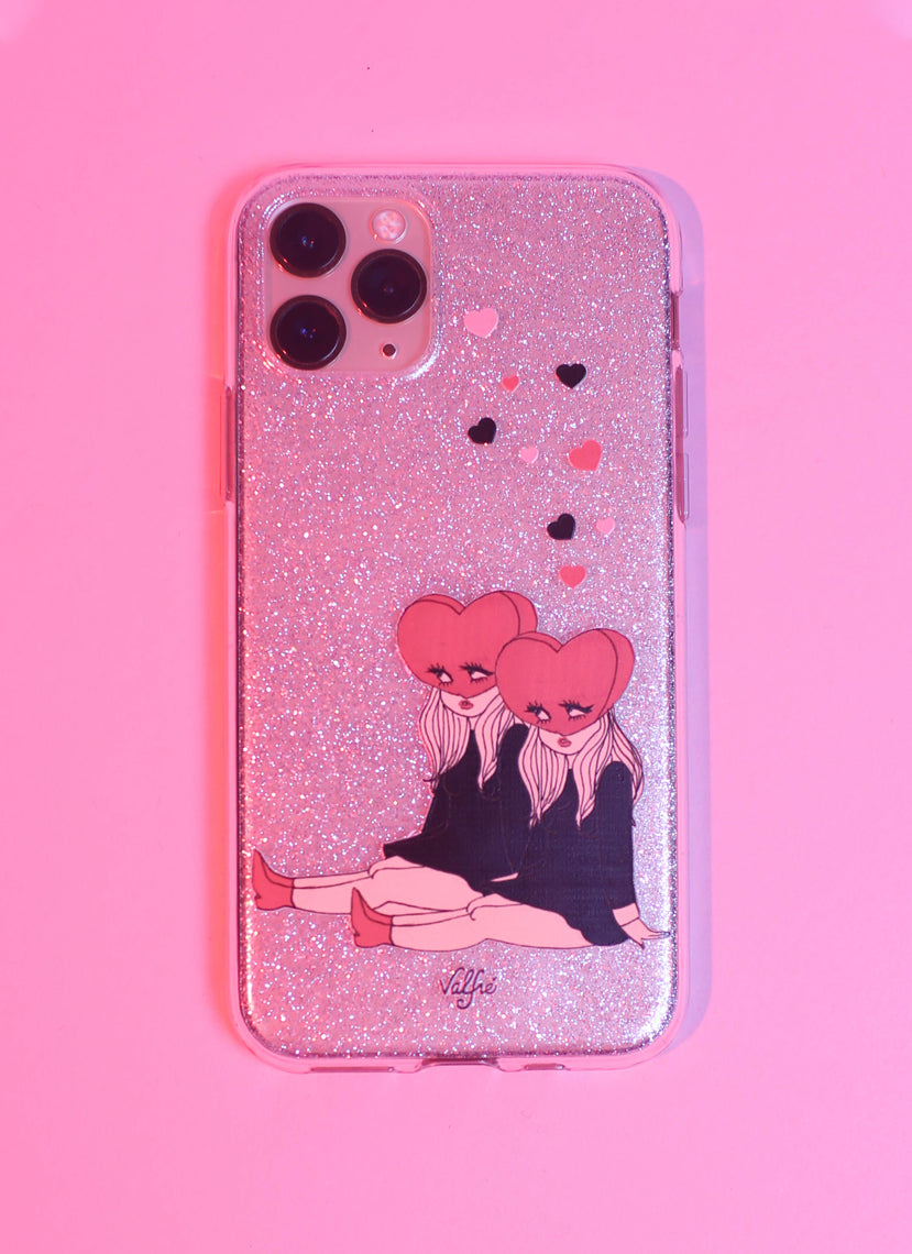 Heart Heads Glitter Phone Case