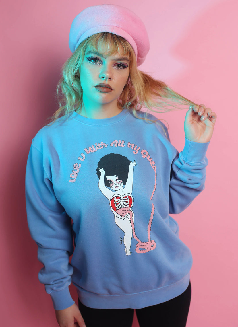 All My Guts Crew Neck Sweatshirt
