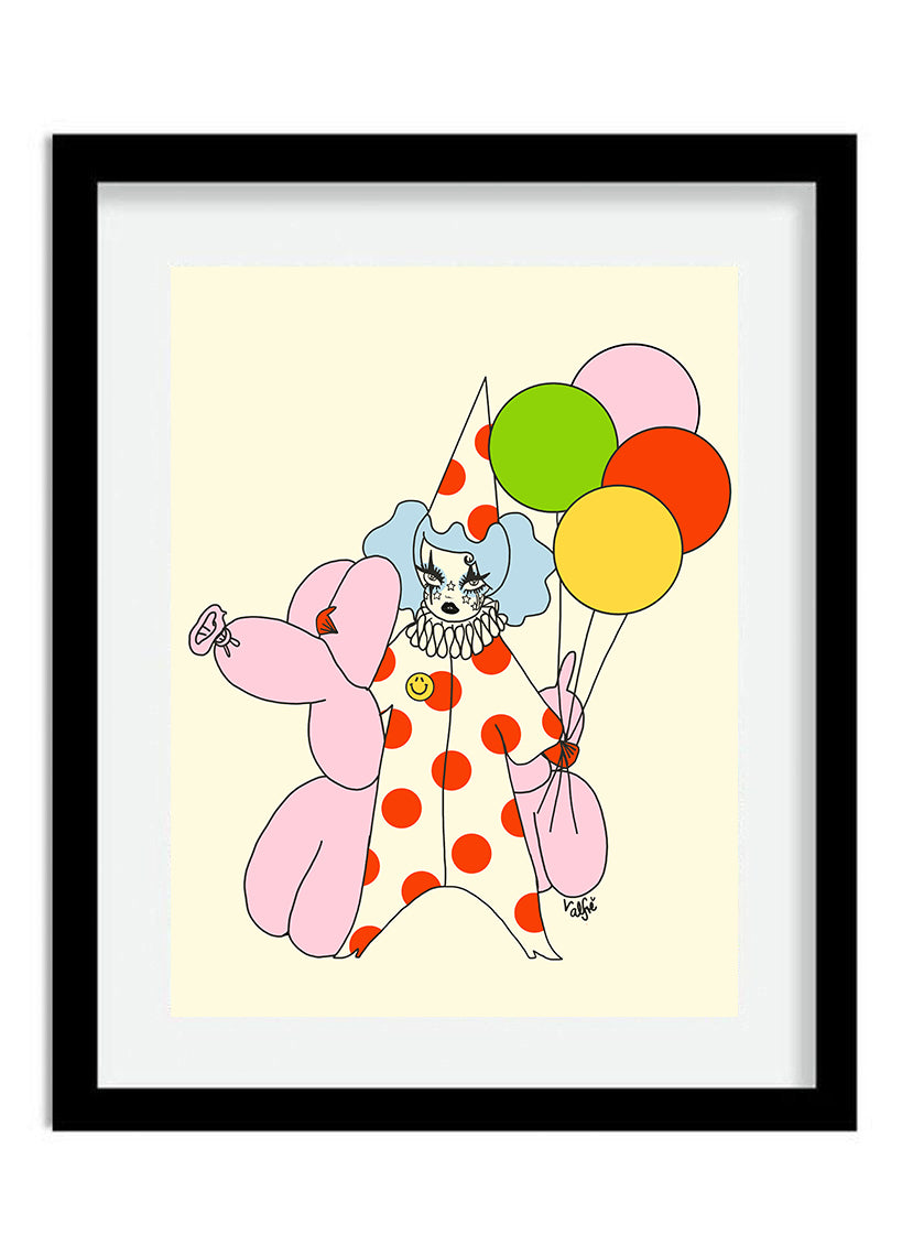 Down To Clown Print
