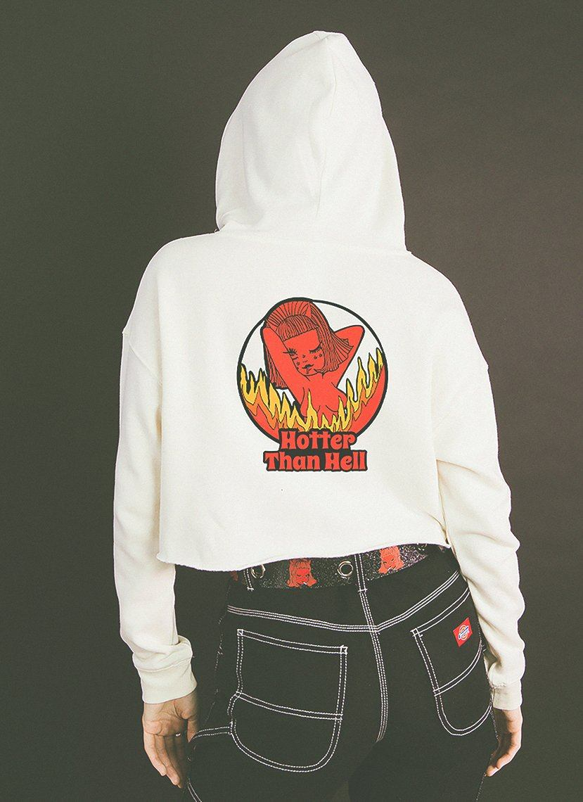 Hotter Than Hell Crop Hoodie