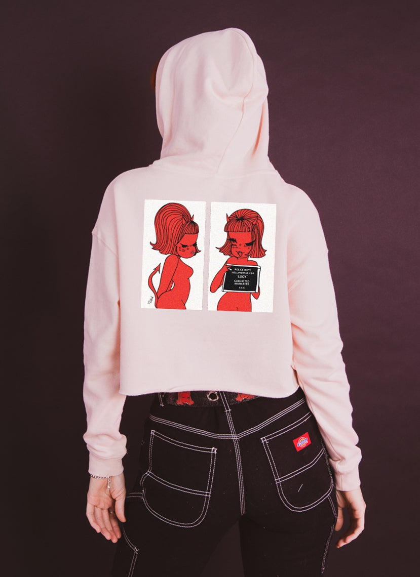 Maneater Cropped Hoodie