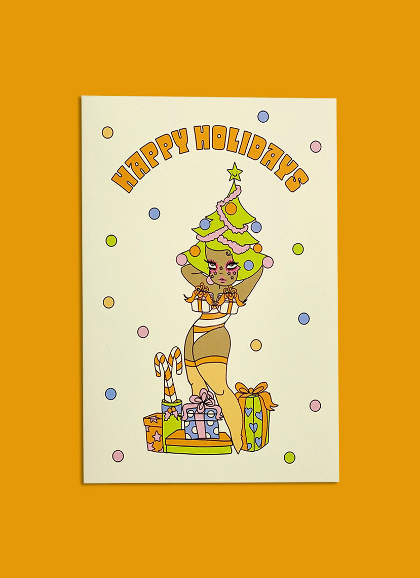 Happy Holidays Babe Greeting Card