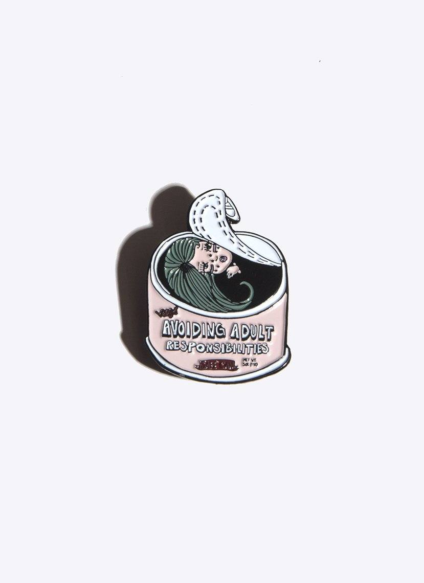 adulting enamel pin