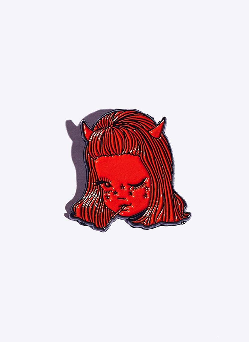 devil girl pin
