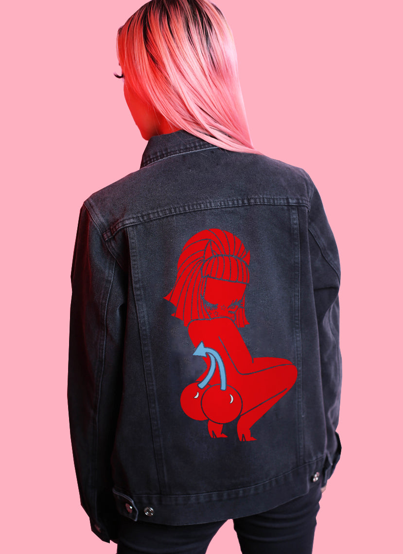 Lucy Cherry Bottom Denim Jacket