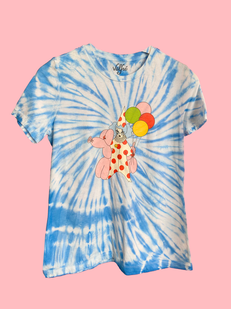 Down To Clown Blue Tie Dye Tee