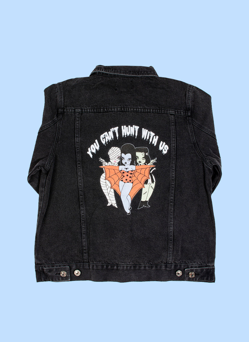 Can't Hunt With Us Denim Jacket