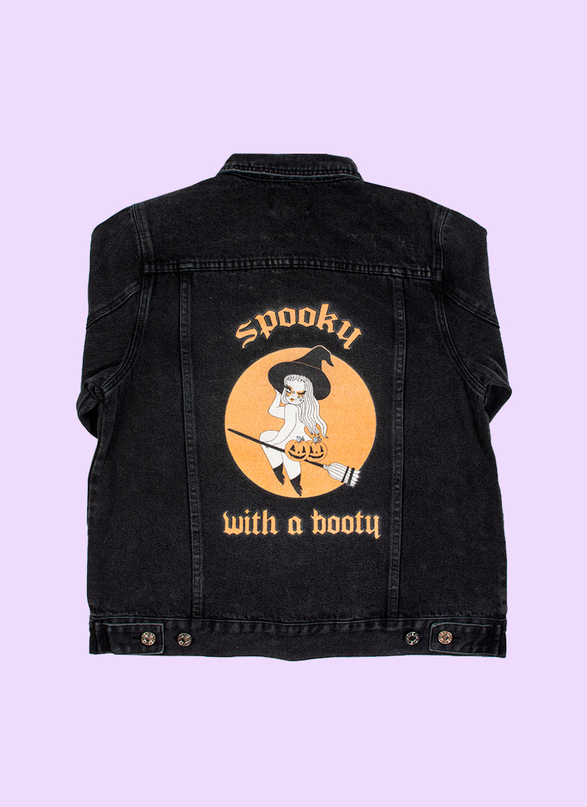 Spooky With A Booty Denim Jacket