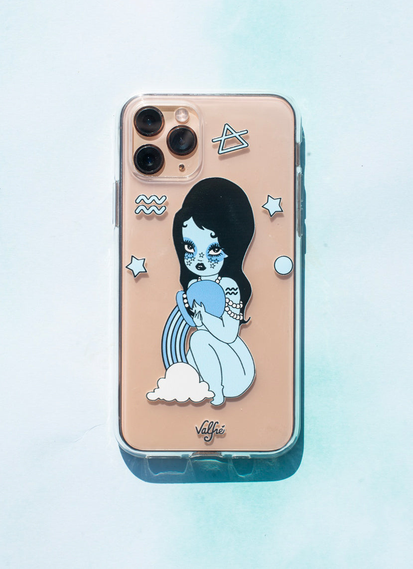 Aquarius Charm Clear Phone Case