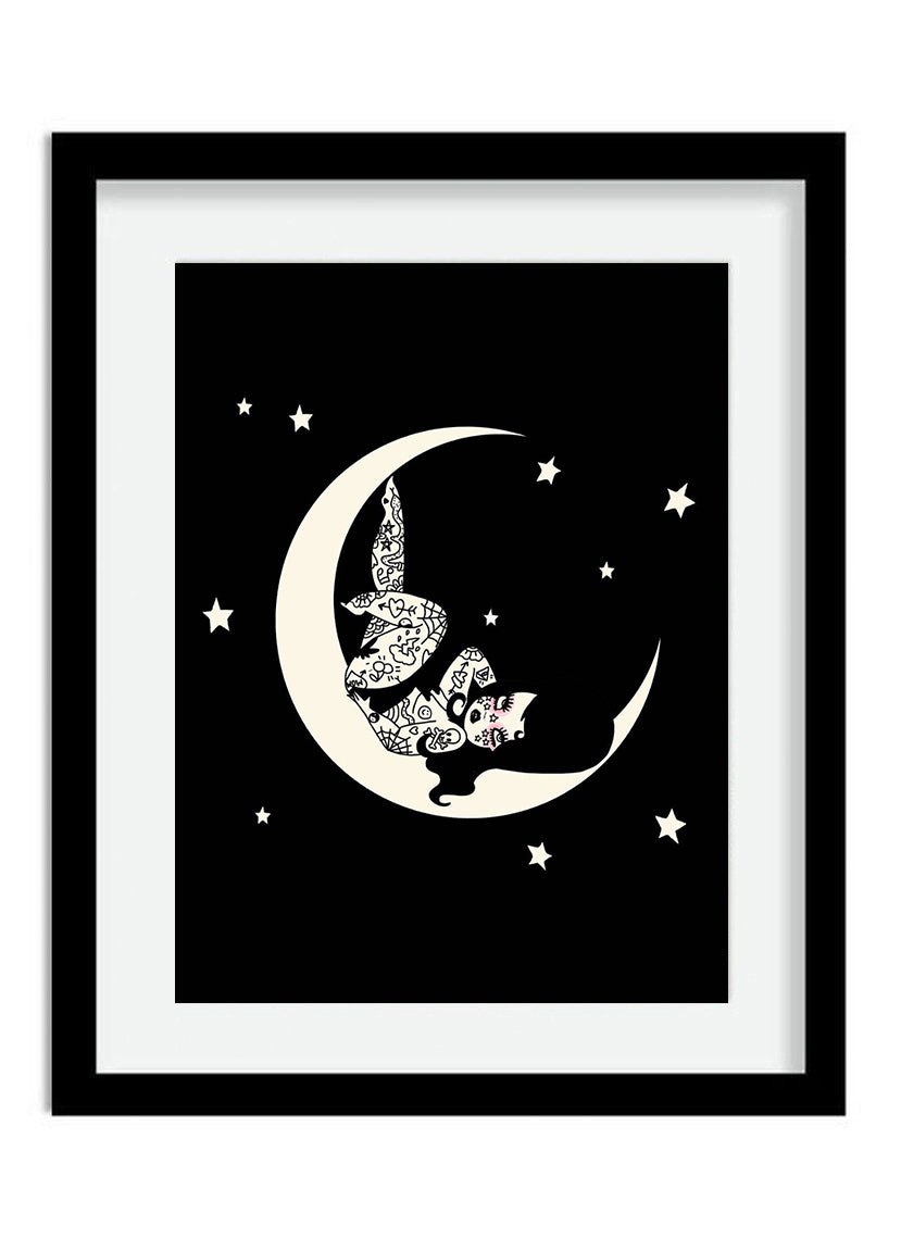 Over The Moon Print